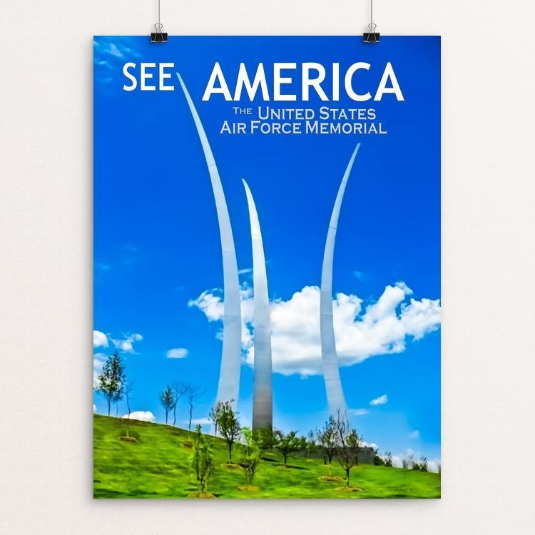 "United States Air Force Memorial by Ed Gleichman 12"" by 16"" Print / Unframed Print See America"
