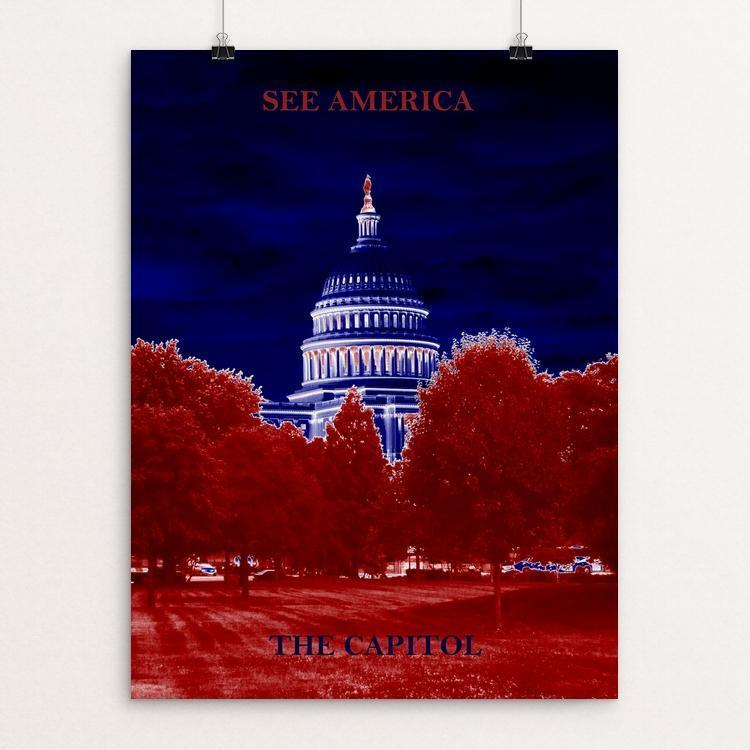 "United States Capitol 1 by Bryan Bromstrup 12"" by 16"" Print / Unframed Print See America"
