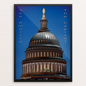 "United States Capitol 2 by Bryan Bromstrup 12"" by 16"" Print / Framed Print See America"