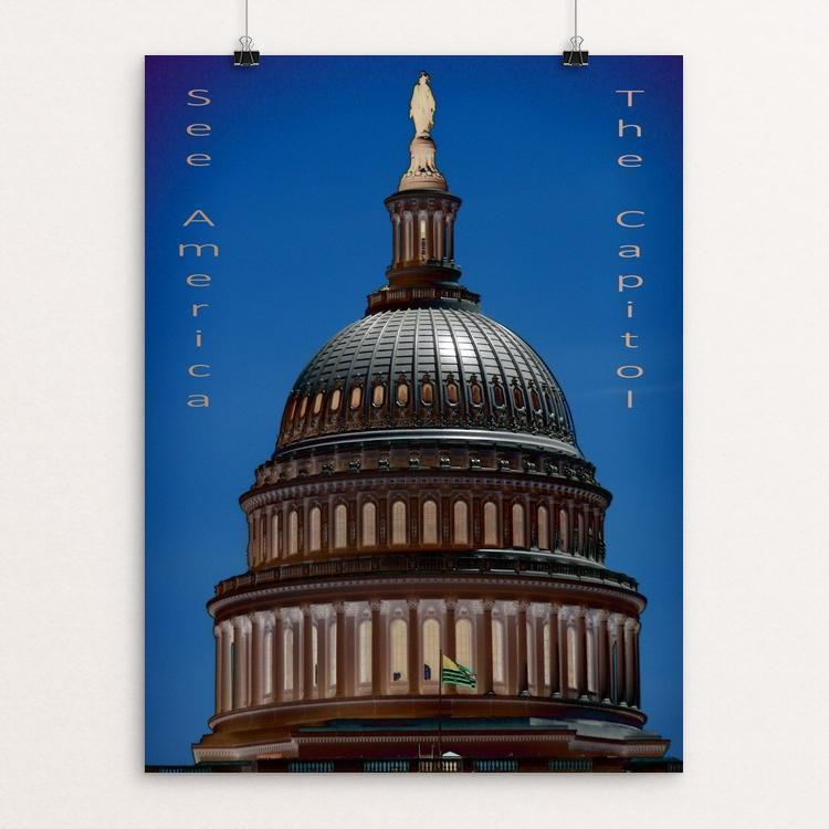 "United States Capitol 2 by Bryan Bromstrup 12"" by 16"" Print / Unframed Print See America"
