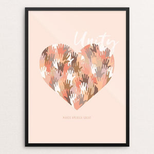 "Unity by Jennifer Duran 12"" by 16"" Print / Framed Print What Makes America Great"