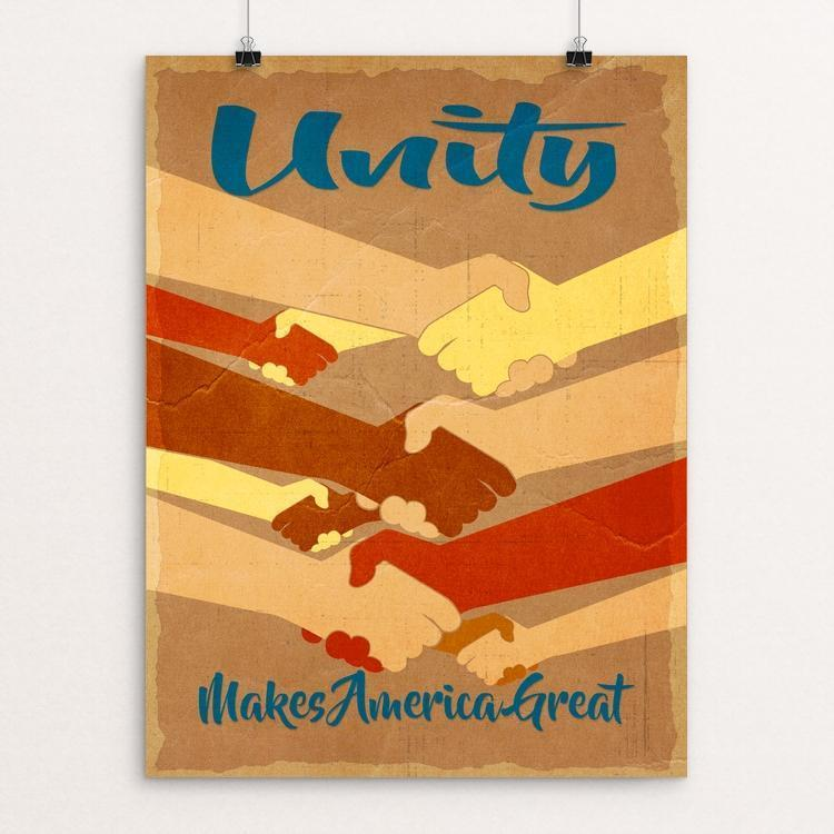 "Unity by Tom Blosch 12"" by 16"" Print / Unframed Print What Makes America Great"