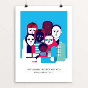 "Unity In Diversity by Aditi Raychoudhury 12"" by 16"" Print / Unframed Print What Makes America Great"