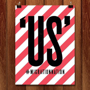 "US' Seven by Mr. Furious 12"" by 16"" Print / Unframed Print Migration Nation"
