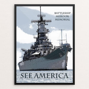 "USS Missouri by Marcia Brandes 12"" by 16"" Print / Framed Print See America"