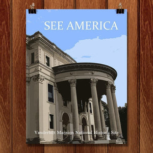 "Vanderbilt Mansion National Historic Site by Ludlowfan 12"" by 16"" Print / Unframed Print See America"