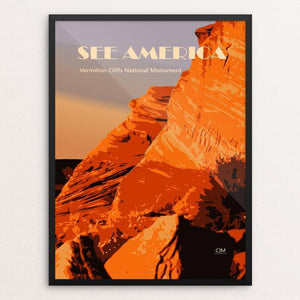 "Vermilion Cliffs National Monument by Christopher Marchman 12"" by 16"" Print / Framed Print See America"