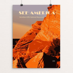 "Vermilion Cliffs National Monument by Christopher Marchman 12"" by 16"" Print / Unframed Print See America"