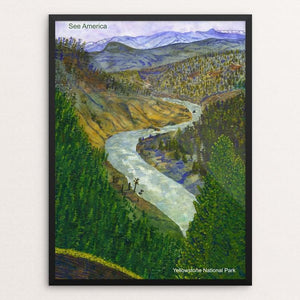 "View from Calcite Springs, Yellowstone National Park by Vito Marrone 12"" by 16"" Print / Framed Print See America"