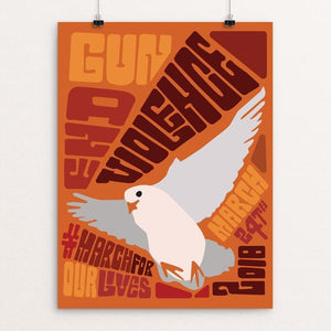 "Vintage End Gun Violence Poster by Mollie Suss 12"" by 16"" Print / Unframed Print Creative Action Network"