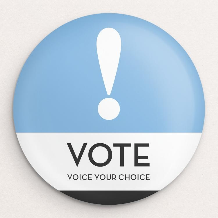 Voice Your Choice Button by Brandon Kish Single Buttons Vote!