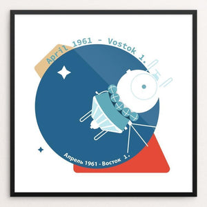 "Vostok 1. by Filipe Trabbold 12"" by 12"" Print / Framed Print Space Horizons"