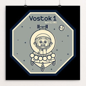 "Vostok 1 by Maria Keller 12"" by 12"" Print / Unframed Print Space Horizons"