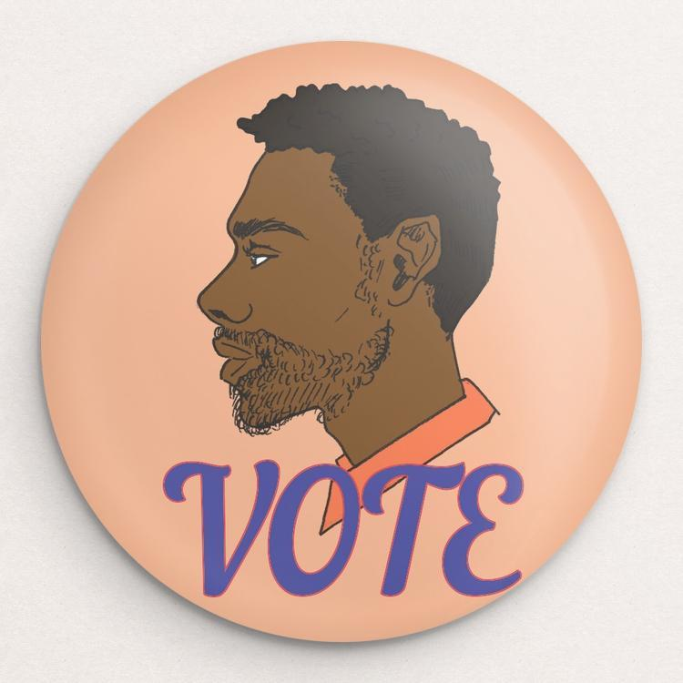 Vote 9 Button by Ryan Oakley Single Buttons Vote!