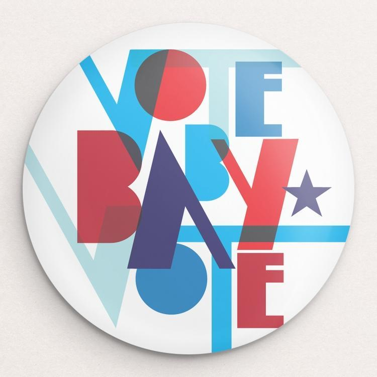 Vote Baby Vote Button by Trevor Messersmith