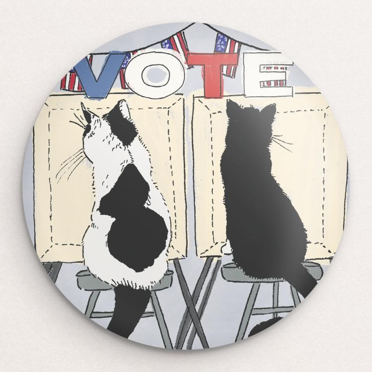 VOTE Button by Chelsea Vaught