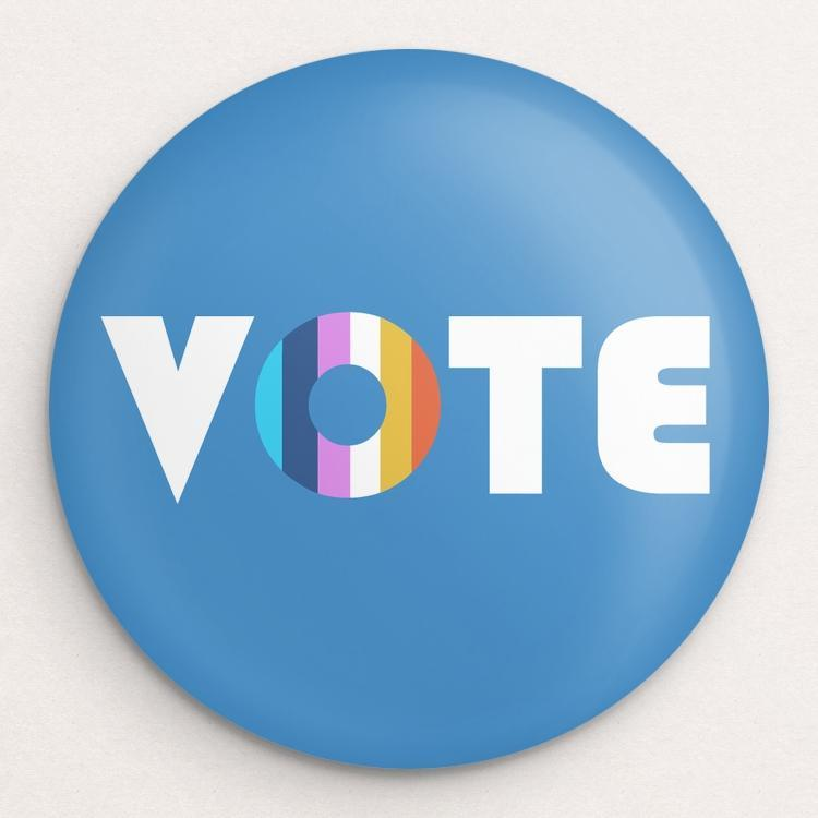 VOTE Button by Holly Savas Single Buttons Vote!
