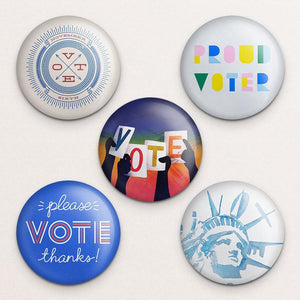 Vote Button Variety Pack 1 5 Pack Buttons Vote!