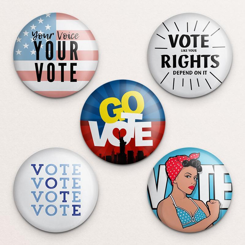 Vote Button Variety Pack 2 5 Pack Buttons Vote!
