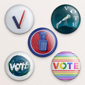 Vote Button Variety Pack 3 5 Pack Buttons Vote!