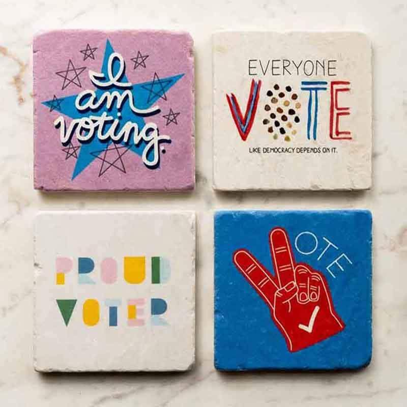 Vote! Coaster Set Coaster Vote!