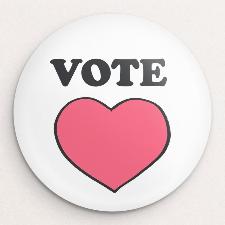 Vote for a Better World Button by Walter Griggs Single Buttons Vote!