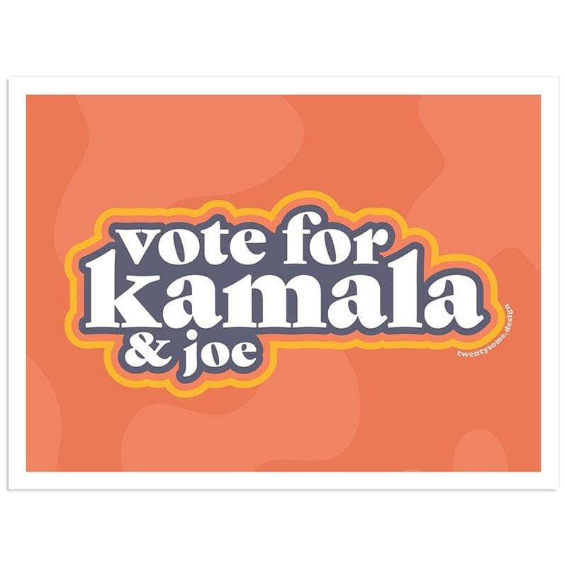 Vote for Kamala & Joe Sticker by Sadie Teper Stickers Creative Action Network