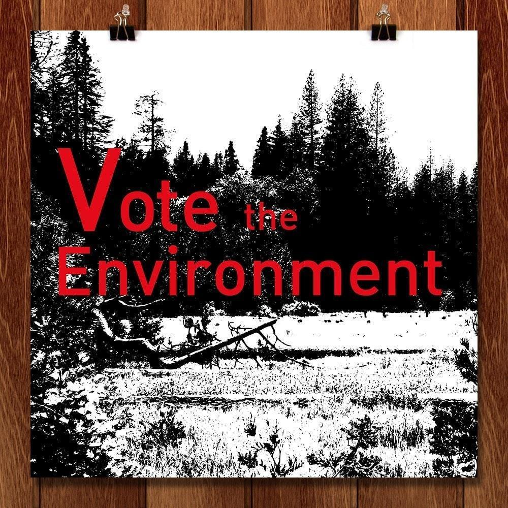 "Vote for the Trees by Lyla Paakkanen 12"" by 12"" Print / Unframed Print Vote the Environment"