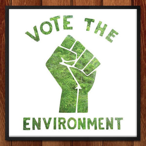 "Vote Green by Steven Popovich 12"" by 12"" Print / Unframed Print Vote the Environment"