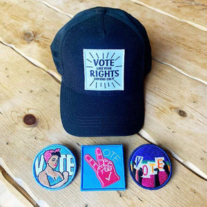Vote! Hat and Velcro Patch Gift Set by Canopy