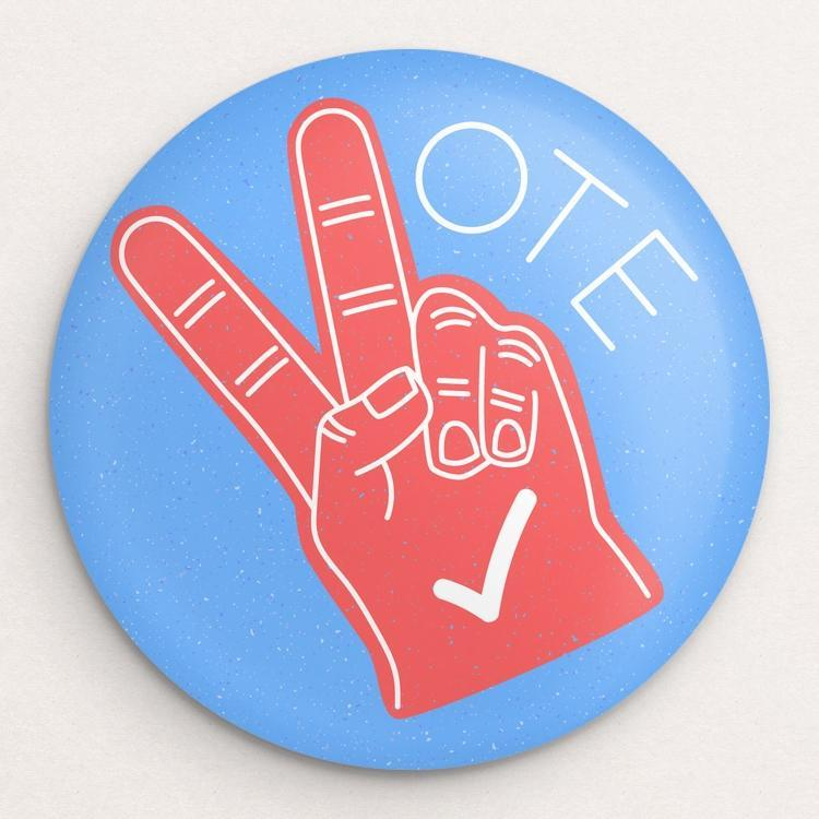 Vote in Peace Button by Susanne Lamb Single Buttons Vote!