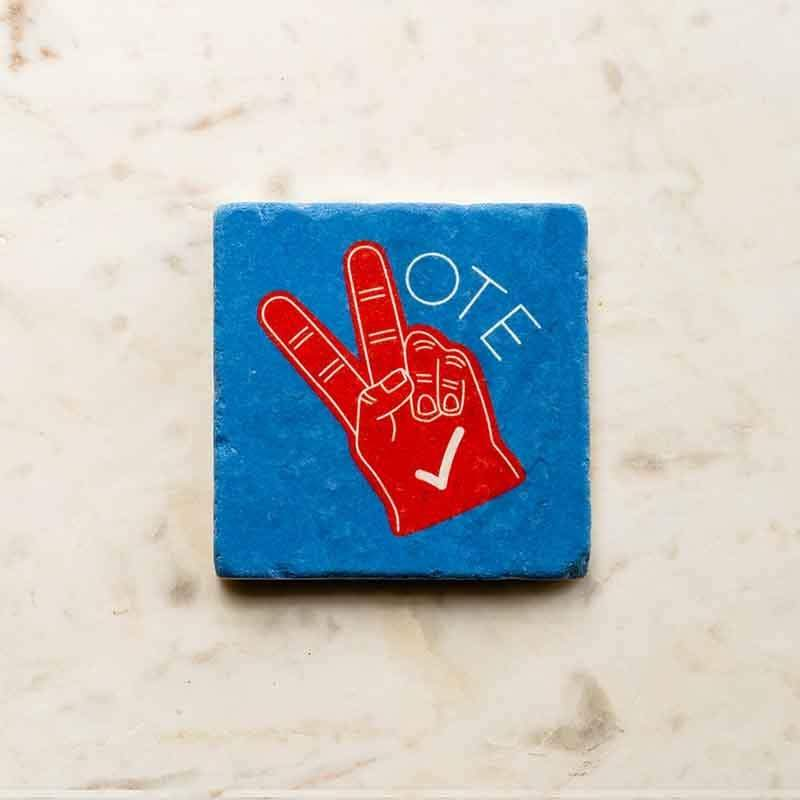 Vote in Peace Coaster by Susanne Lamb