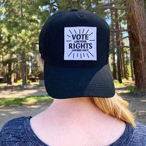 Vote Like Your Rights Depend On It Velcro Patch by Amy Smith Velcro Patch Vote!