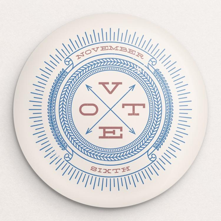 Vote November Sixth Button by Michael Czerniawski