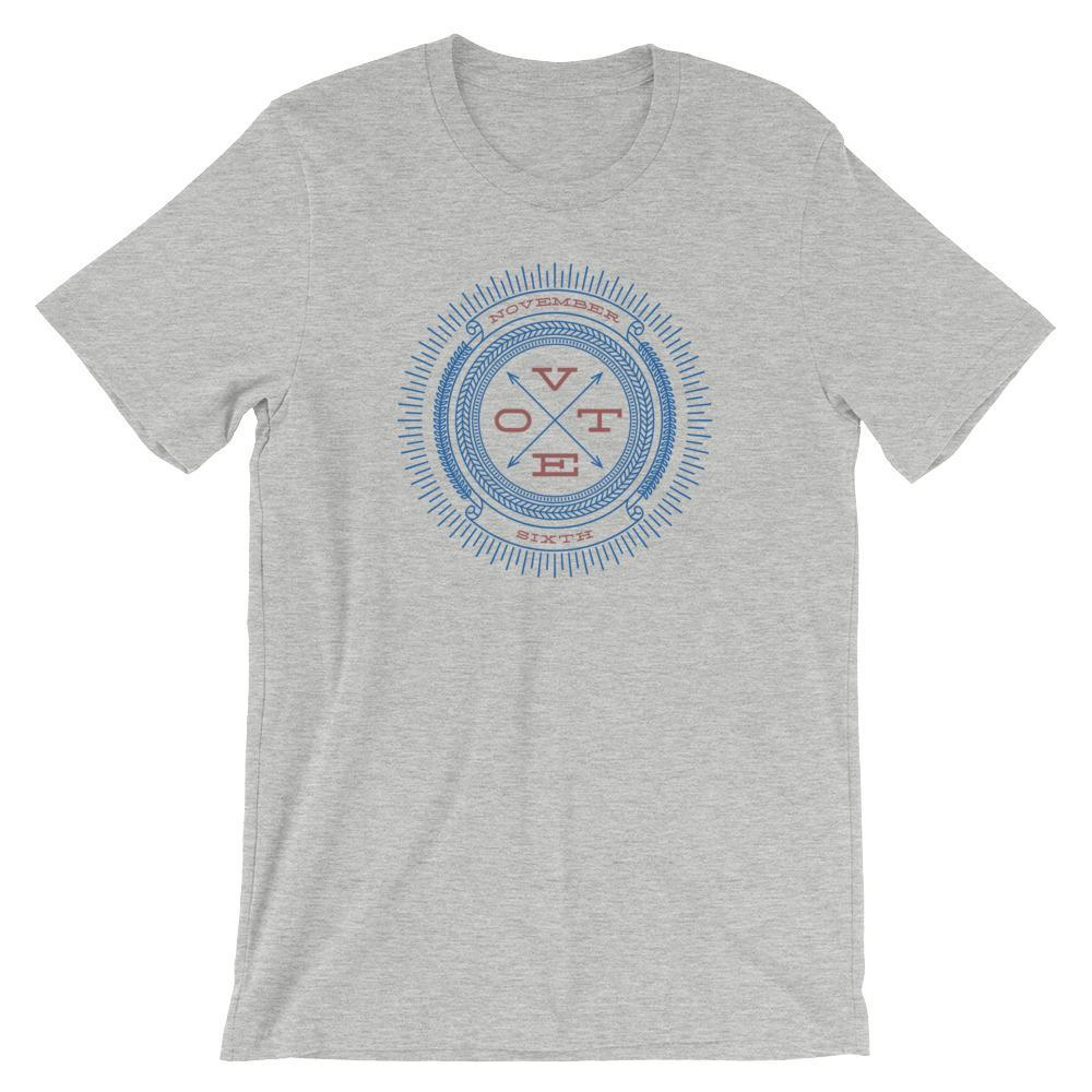 Vote November Sixth Men's T-Shirt by Michael Czerniawski S / Heather Gray T-Shirt Vote!