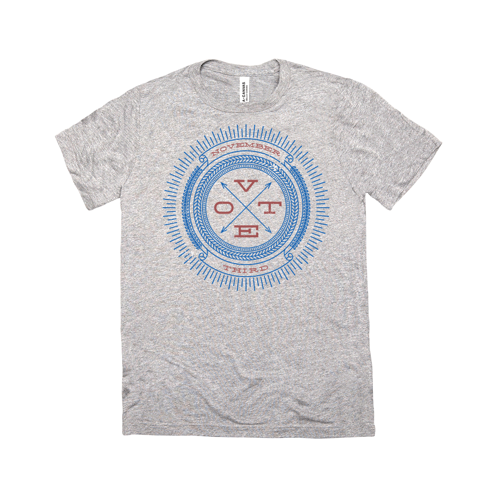 Vote November Third Triblend Men's T-Shirt by Michael Czerniawski Grey Triblend / Small (S) Triblend T-Shirt Vote!