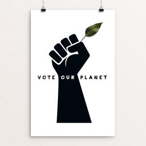 "Vote Our Planet 1 by Kevin Mcgeen 12"" by 18"" Print / Unframed Print Vote Our Planet"