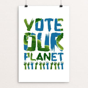 "Vote our Planet 2 by Jenny Jones 12"" by 18"" Print / Unframed Print Vote Our Planet"