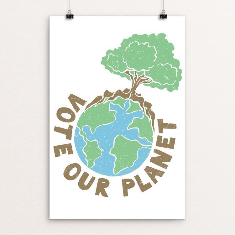 "Vote Our Planet 2 by Shane Bowman 12"" by 18"" Print / Unframed Print Vote Our Planet"