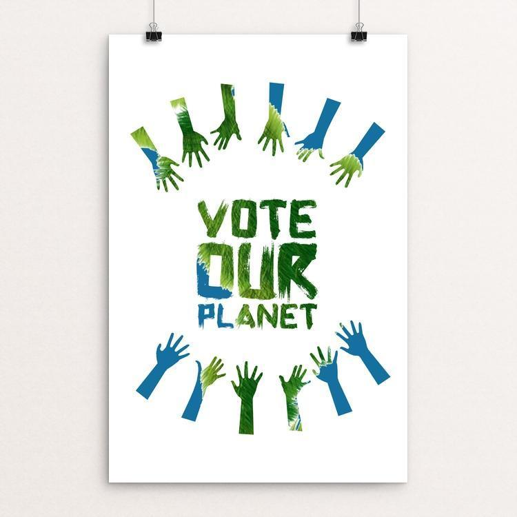 "Vote our Planet 3 by Jenny Jones 12"" by 18"" Print / Unframed Print Vote Our Planet"