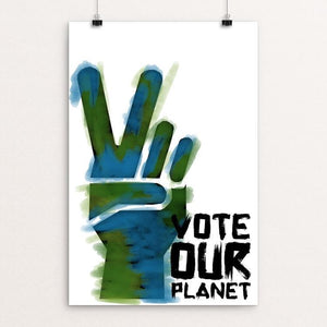 "Vote our Planet 4 by Jenny Jones 12"" by 18"" Print / Unframed Print Vote Our Planet"