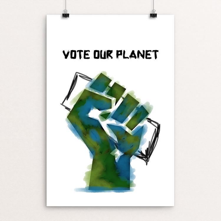 "Vote our Planet 5 by Jenny Jones 12"" by 18"" Print / Unframed Print Vote Our Planet"