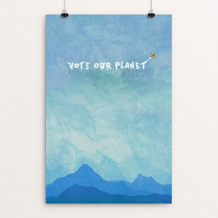 "Vote Our Planet 5 by Kevin Mcgeen 12"" by 18"" Print / Unframed Print Vote Our Planet"