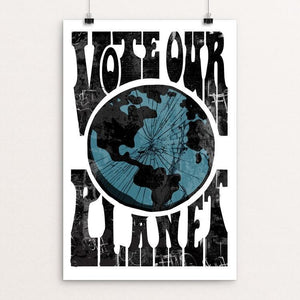 "Vote Our Planet 6 by Kevin Mcgeen 12"" by 18"" Print / Unframed Print Vote Our Planet"