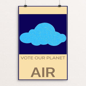 "Vote Our Planet Air – Cloud by Bryan Bromstrup 12"" by 18"" Print / Unframed Print Vote Our Planet"