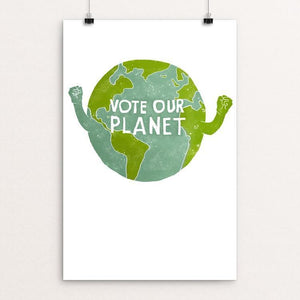 "Vote Our Planet by Cameron Brand 12"" by 18"" Print / Unframed Print Vote Our Planet"