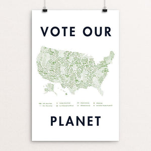 "Vote Our Planet by Emily Kelley 12"" by 18"" Print / Unframed Print Vote Our Planet"