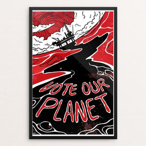 "Vote Our Planet by James McInvale 12"" by 18"" Print / Framed Print Vote Our Planet"