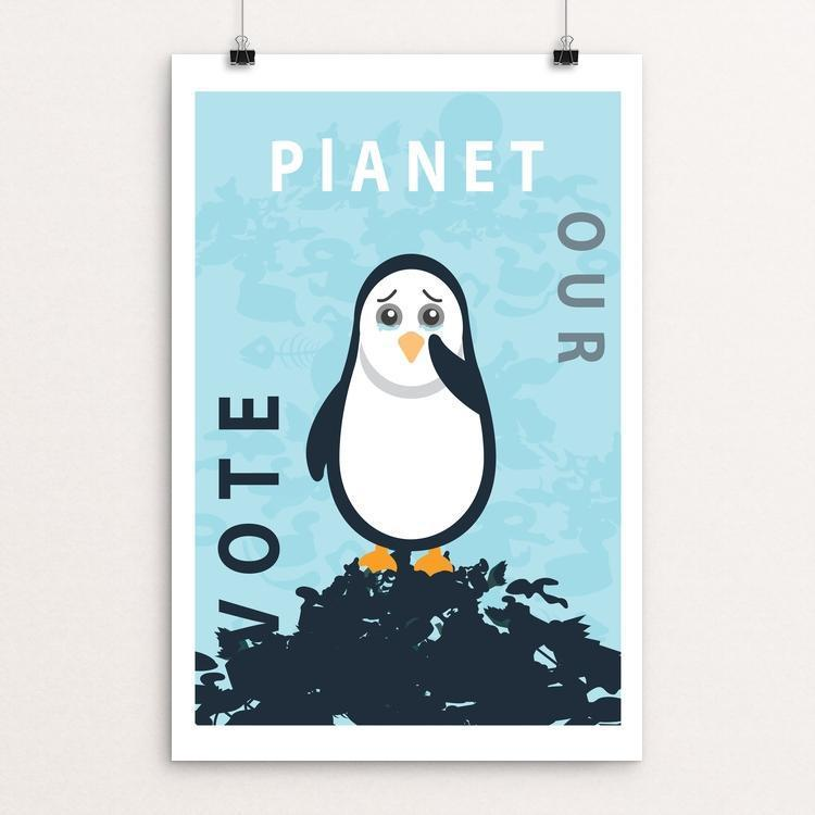 "Vote Our Planet by Natasha Kovaleva 12"" by 18"" Print / Unframed Print Vote Our Planet"