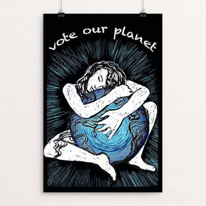 "Vote Our Planet by Yael Pardess 12"" by 18"" Print / Unframed Print Vote Our Planet"